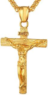 18k gold plated cross crucifix