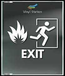 Emergency Exit Only Business Wall Decal 6 00 Picclick