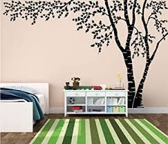 Amazon Com Birch Tree Forest Canopy Blowing Leaves Vinyl Wall Decal 1376 Custom Contact Us 96 Tall X 144 Wide Right To Left Baby