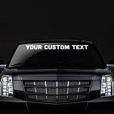 High Quality Custom Windshield Stickers Decals Affordable Durable