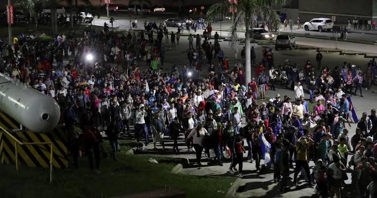 """Resultado de imagen de México se moviliza ante caravana migrante que se dirige a EU"""""""