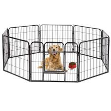 Dog Pen Extra Large Indoor Outdoor Dog Fence Playpen Heavy Duty 8 Panels 32 Inches Exercise Pen Dog Crate Cage Kennel Black Walmart Com Walmart Com