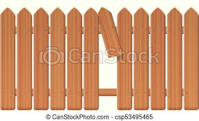 Gap In The Fence Gap In The Fence Wooden Textured Picket Fence With Broken Plank And Loophole To Slip Through Escape
