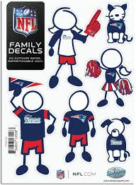 Amazon Com Nfl Siskiyou Sports Fan Shop New England Patriots Family Decal Set Small One Size Team Color Automotive Decals Sports Outdoors
