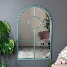 duckegg blue vanity mirror on stand