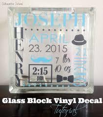 Vinyl Glass Block Tutorial Silhouette School Silhouette School