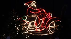 santa on motorbike rope light