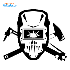 15 12cm Welder Skull Art Car Decal Vinyl Laptop Stickers Tumbler Car Stickers Welding Sign Wallpapers L931 Buy At The Price Of 1 13 In Aliexpress Com Imall Com