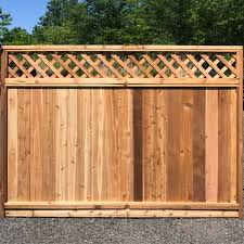 Fence City 6 Ft Red Cedar Lattice Top T G 1 X 6 Solid Bottom Sale Price 150 Each In Stock