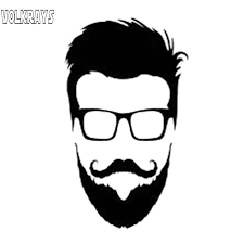 Volkrays Personality Car Sticker Hipster Glasses Beard Head Motorcycle Accessories Reflective Vinyl Decal Black Silver 14cm 8cm Car Stickers Aliexpress