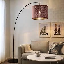 Skaftet Floor Lamp Base W Light Blb Arched Black Ikea