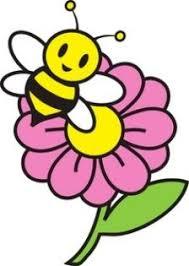gambar bunga kartun dengan lebah kartun gambar lebah