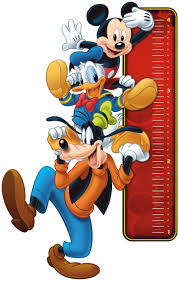 Amazon Com Fathead Mickey Mouse Growth Chart Giant Officially Licensed Disney Removable Wall Decal Home Kitchen