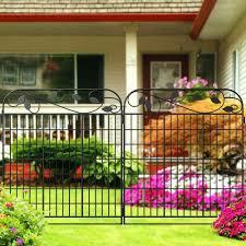 Amagabeli Garden Home Metal Garden Fence 44inx6ft Fencing Gate Border Folding Animal Barrier Black