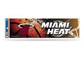 Miami Heat Bumper Sticker Nba Officially Licensed Custom Sticker Shop
