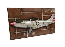 p51 mustang fighter airplane wwii 3d