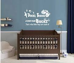 Amazon Com Bestpriceddecals Ducks Trucks And Eight Point Bucks That S What Little Boys Are Made Of Children Wall Decal White 20 X 31 Home Kitchen