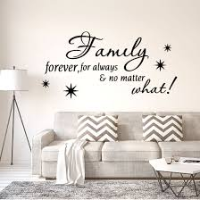 Shop Family Forever Text Pattern Wall Stickers Removable Decals For Home Living Room Black Overstock 29186823