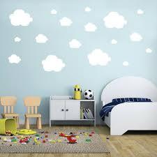 Cloud Wall Decals Wall Decals Small Clouds Vinyl Wall Decals Set Of 42 Fluffy Clouds Clouds Pattern Kids Nursery Playroom Baby Room Decals Kid Room Decor Cloud Nursery Wall