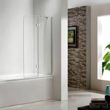 frameless glass tub door neo angle