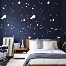 Space Wall Decals For Boy Room Outer Space Nursery Wall Sticker Decor Star Astronaut Vinyl Decal Constellation Decor Kids N202 Wall Stickers Aliexpress