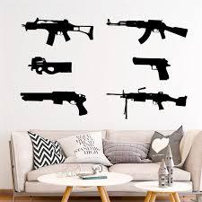 Creative Arsenal Firearms Wall Stickers Home Decor Living Room Bedroom Wall Decals Vinyl Mural Art Diy Wallpaper Accessories Wall Stickers Aliexpress