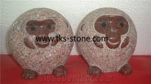 beige granite animal sculptures stone