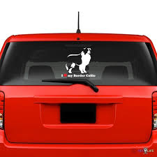 I Love My Border Collie Windshield Sticker Vinyl Auto Window Sheep Dog Car Decals Wish