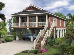 story beach house plans stilt homes on