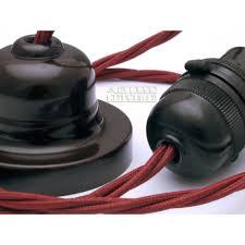 bakelite rose wire lamp holder