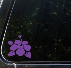 The Decal Store Com By Yadda Yadda Design Co Car Hibiscus Flower D2 Car Vinyl Decal Sticker C Yydc 4 5 W X
