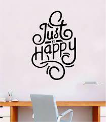 Just Be Happy Wall Decal Sticker Bedroom Room Art Vinyl Inspirational Boop Decals