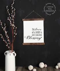 Wood Canvas Wall Hanging The Love Of A Family Blessings Wall Art Sign
