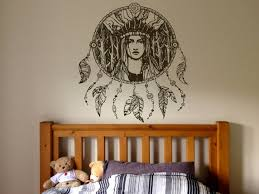 Wall Window Decal Sticker Native Indian Woman Girl Etsy
