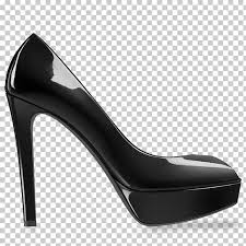 black heel women shoe unpaired black