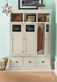 With A Household Full Of Kids A Storage Locker Like This In The Mudroom Isn T A Bad Idea Chalkboard Panels Al Locker Storage Mud Room Storage Easy Home Decor