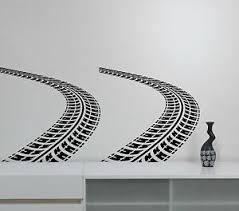 Tire Tracks Wall Decal Auto Car Trace Vinyl Sticker Road Racing Art Room Decor 2 Ebay