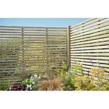 6ft X 5ft 1 8m X 1 5m Pressure Treated Contemporary Slatted Fence Panel Pack Of 5 Homebase