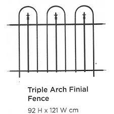 Triple Arch Finial Fence Black Blue Diamond Garden Centre Ltd