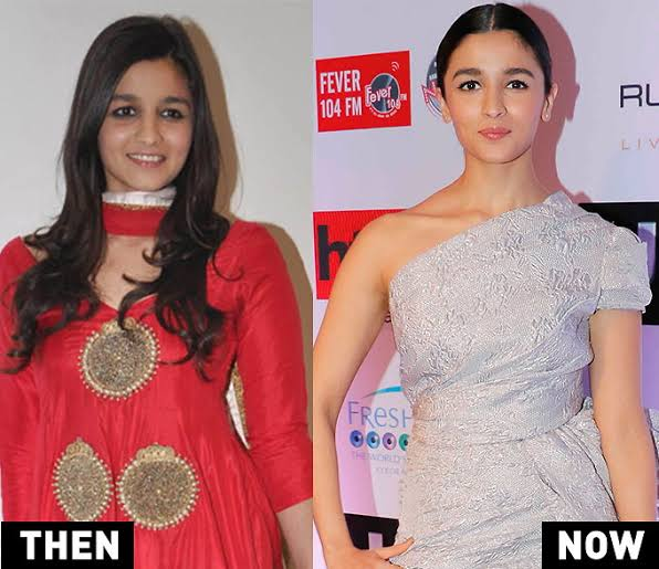 Image result for alia bhatt then and now""