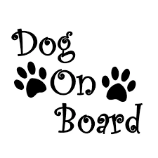 Funny Dog On Board Paw Print Cool Car Decal Decor Window Helmet Laptop Sticker Car Stickers Aliexpress
