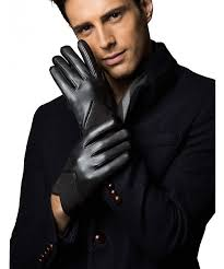 leather gloves snug knit waist