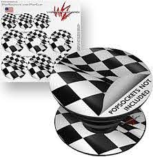 Amazon Com Decal Style Vinyl Skin Wrap 3 Pack For Popsockets Checkered Racing Flag Popsocket Not Included By Wraptorskinz Everything Else