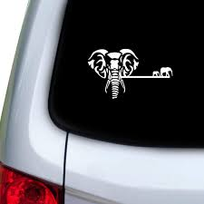 Amazon Com Stickany Car And Auto Decal Series Elephant Premium Sticker For Windows Doors Hoods White Automotive