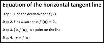 horizontal tangent line andymath com
