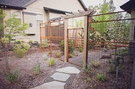 Rusted Steel Mesh Deer Fence Garden Gate Arbor Traditional Landscape Other By Regenesis Ecological Design