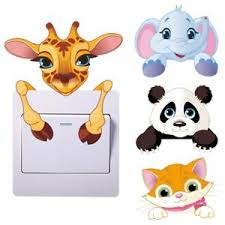Cute Animals Wall Light Switch Sticker Kids Bedroom Vinyl Wall Decal Room Decor Ebay