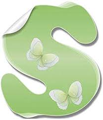 Amazon Com Wall Decals Letter S Green Butterfly Letters Baby Name Decal Stickers Decorative Alphabet Decor Children S Room Baby S Nursery Girl S Bedroom Kid S Playroom By Bugs N Blooms Kitchen Dining
