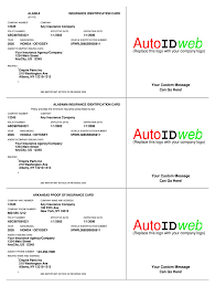 insurance card template fill