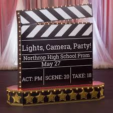 Lighted Personalized Clapboard In 2020 Hollywood Party Theme Hollywood Birthday Parties Hollywood Birthday